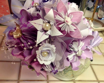 Large Origami Bouquet Plus Lapel Flower