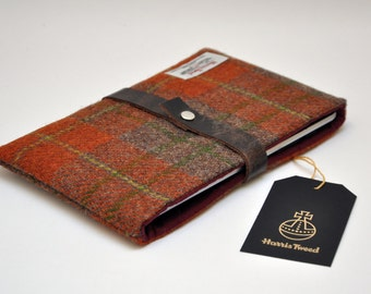 "HARRIS TWEED 6"" eReader case Kindle/Kindle paperwhite/Kindle Voyage/Kindle Oasis/Nook Touch/Kobo case - Classic (Free Embossing)"