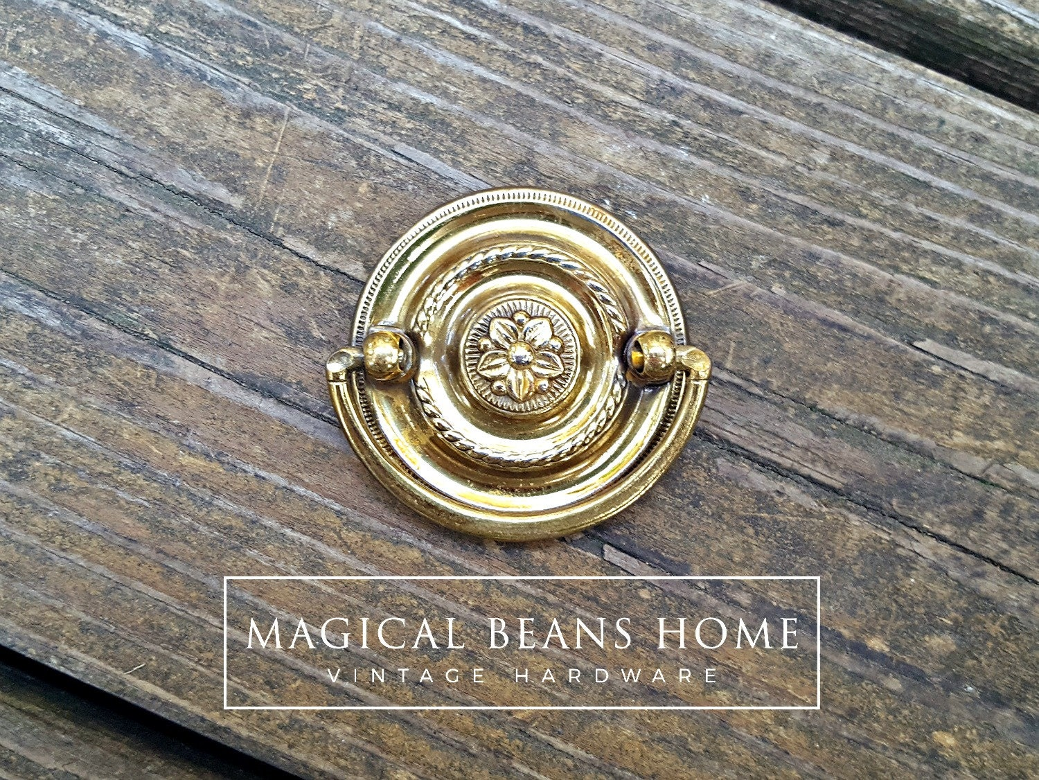 Gold Hepplewhite Drawer Pull Polished Brass Round Dresser Pulls Gold ...