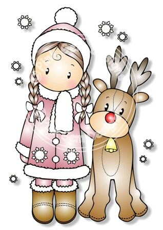 Digital digi chloe mit rentier stempel niedliche - Niedliche weihnachtskarten ...