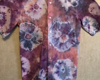 Youth Size 18 Tie Dye Shirt Sleeve Oxford Shirt