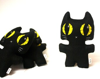Black Cat Minou Kitty - Eco-friendly Felt Plush Kitty