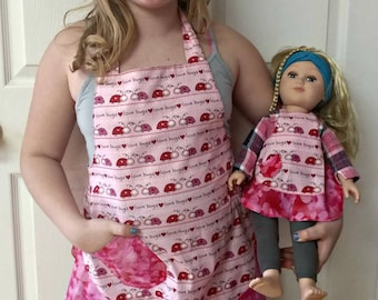 Little Girl and Doll Apron
