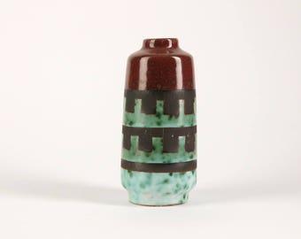 VEB HALDENSLEBEN Mid CenturyVase, East Germany, 1960s Ceramic, Vintage Form 3045 C