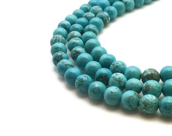 row 65 turquoise natural 6 mm