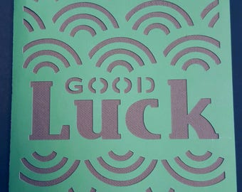 Good Luck Greeting Card with optional Open When label