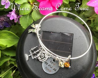 Beauty and the Beast Quote Bracelet (Tale as Old as Time)