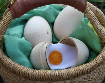 12 Hollow Wooden Eggs - DIY - 1 dozen - 3.20 each