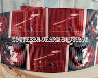 """3 yards 7/8"""" Florida State Seminoles grosgrain ribbon"""