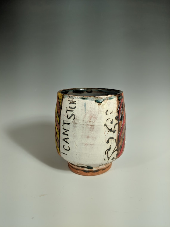 Handmade Ceramic Tea Bowls, Story Cups - Can't Stop