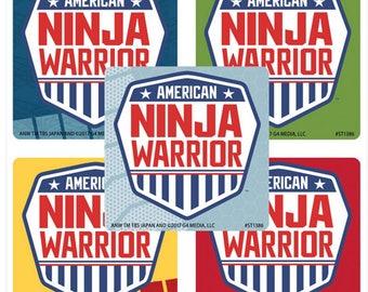 "25 American Ninja Warrior Stickers, 2.5"" x 2.5"" Each"