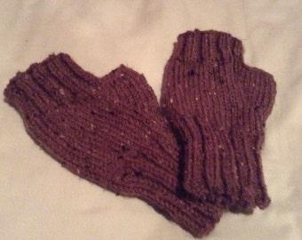 Knit Fingerless Gloves - Handmade Fingerless Gloves - Fingerless Mittens - Armwarmers - Wrist Warmers