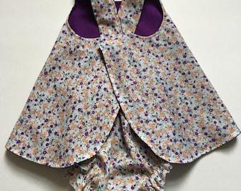 Baby Pinafore Dress, Matching Bloomers, Reversible, Sundress, Baby Gift