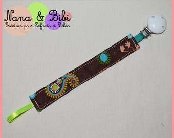 Pacifier clip fabric with Alligator Clip