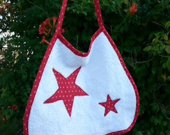 Starry white and cotton Terry bib