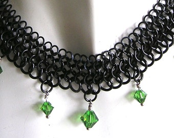 black maille necklace