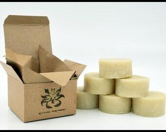 Mens Shave Soap - Forest: 2 oz, Cedar, Cedarwood, Bergamot, Fir, Puck, Vegan, Natural, Mens Shave, Soap, Mens Shaving