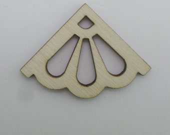 Wooden Corners - set of 4 pieces - Embellishments for journals, notebooks, diaries, sketchbooks COR004