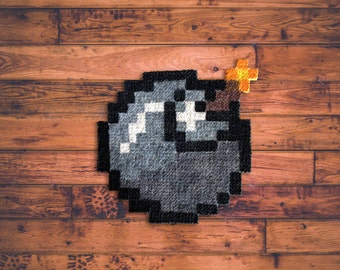 Bomb! -Carpet Pixel Art - Hand painted