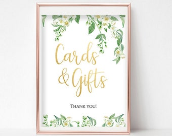 Cards and Gifts Sign Gift Table Sign Cards and Gifts Printable Wedding Sign Template Printable Sign Instant Download 4x6, 5x7, 8x10 Jasmine
