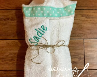 Hooded Towel--personalized with name or monogram