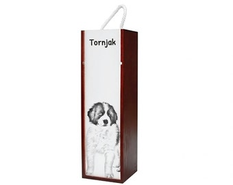 Tronjak - Wine box with an image of a dog.