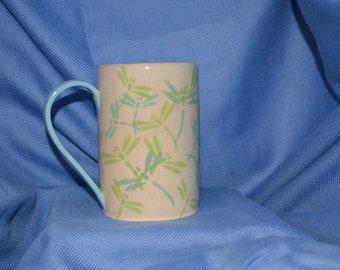 Dragonfly Mug, Coffee Mug, Dragonfly Cup, Unique Mug