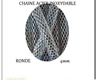 Round 4mm stainless steel chain