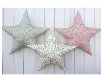 Liberty London Print Star Cushion, Star Cushion, Cushion, Liberty London Cushion, Liberty Print, Liberty Print Cushion