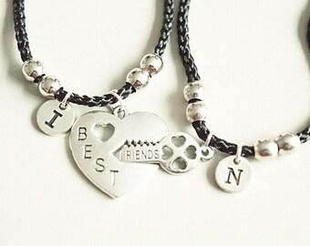 Best friends bracelet set  , Friendship bracelet set, Friends set of 2, Couples bracelets set, Christmas gift friend, BFF set of 2, friends