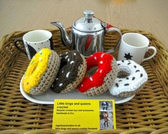 Gifts for kids, Crochet doughnut, play food, pretend play ring doughnut, pin cushion, party favour, soft toy, doughnut key ring