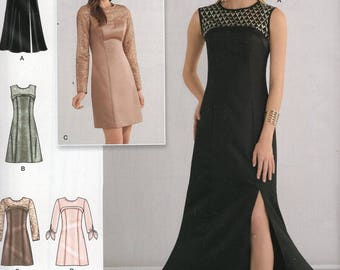 Simplicity 0548 Sewing Pattern Free Us Ship Day Evening Dress Uncut Size 6/14 14/22  6 8 10 12 14 16 18 20 22 Bust 30 32 34 36 38 40 42 44