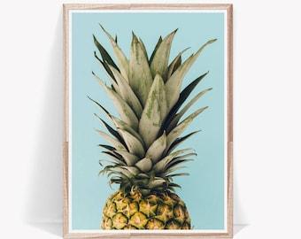 Pineapple Print,Pineapple Wall Art,Pineapple Decor,Pineapple Poster,Pineapple Wall Print,Tropical Printable Art,Printable Pineapple,Fruit