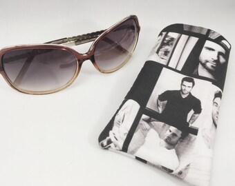 Adam Levine Sunnies Pouch,handmade sunglass pouch,hot guy sunnies holder,thoughful gift,summer time gift,Levine sunglass pouch