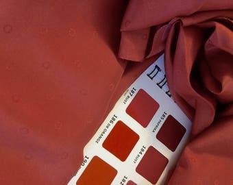 Silk Jacquard fabric silk damask fabric terra cotta orange rust for sewing silk blouse silk scarves patterned silk damask