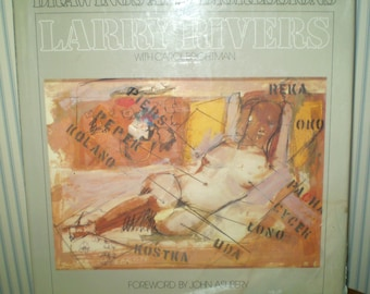 Larry Rivers- Drawings and Digressions-1979 AUTOGRAPHED first edition book- Hardback art book- L Rivers & C Brightman-Larry Rivers autograph