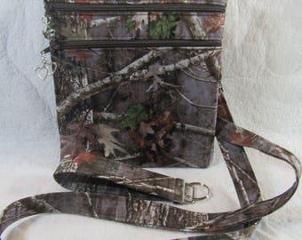 Camo - Camouflage  Theme Fabric Crossbody Bag w/adj strap- Free Shipping