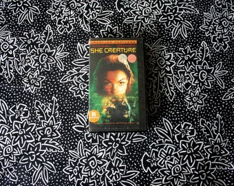 SHe Creature VHS Tape. Rare Creature Feature Horror Gore Movie. Rare OOP Monster Movie VHS. She Creature B Movie Horror Night