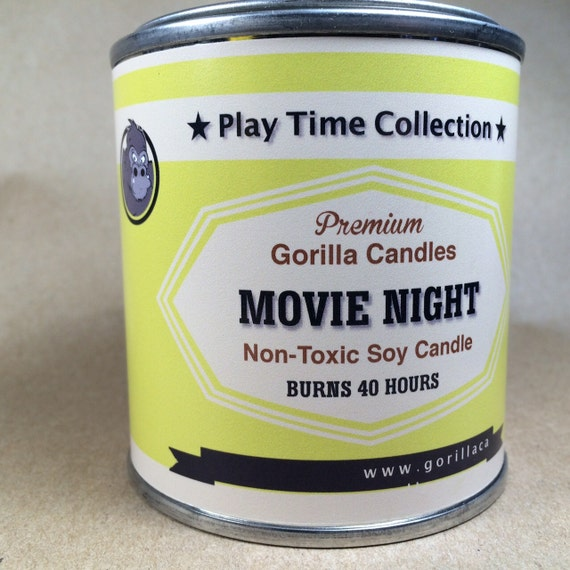 Movie Night Buttered Popcorn Scented Soy Candle