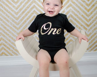 First Birthday Outfit Girl Black Gold One With Knotted Gold Headband Gold Heart Leg Warmers Options 1st Birthday Girl Set
