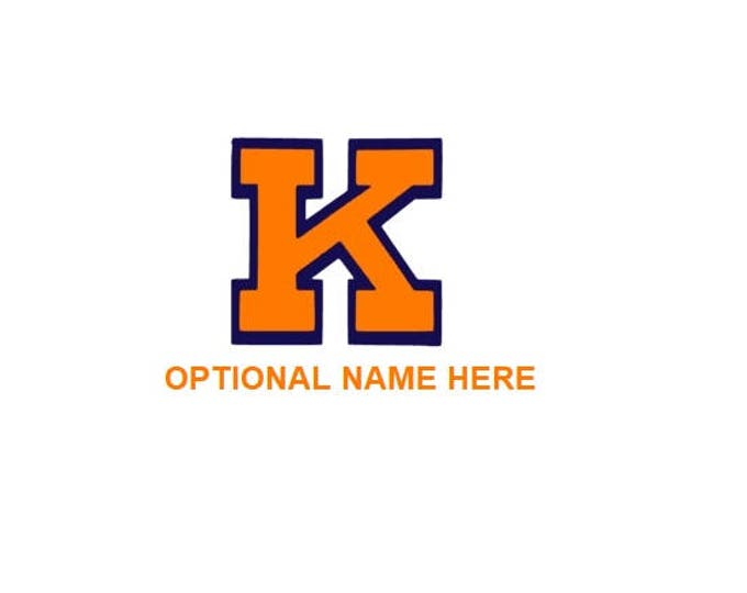 Kingston decal K Yellow Jackets car tumbler cup decal orange and blue personalized