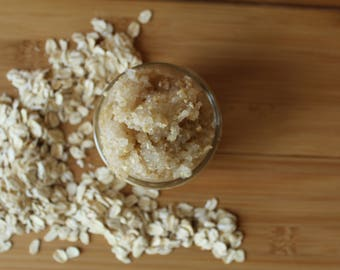 Natural vegan Oatmeal Sugar  Scrub/ Natural Face Scrub/ body scrub