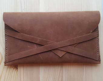 Leather Clutch - Classic Clutch - Little Wallet - Everyday Clutch - Purse - Phone case