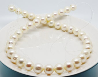 10.25mm Cultured Freshwater Pearl Strand - Ivory (cream) - 16""