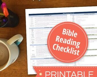 Bible Reading Checklist - Printable PDF - Instant Download