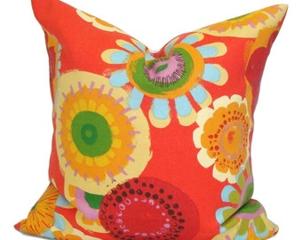 FLORAL OUTDOOR PILLOWS.Red Pillow Cover, Decorative Pillow, Outdoor Throw Pillow, Outdoor Pillows, Accent Pillow, All Sizes, Cushion