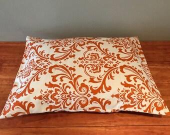 Orange Dammask Dog or Cat Bed Cover