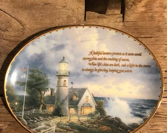 Thomas Kinkade A Light in the Storm collector plate
