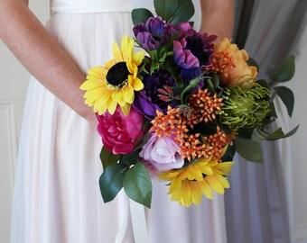 Rainbow bouquet, colourful bouquet, alternative bouquet, festival bouquet, pride flowers, pride wedding, multicoloured flowers, rainbow posy