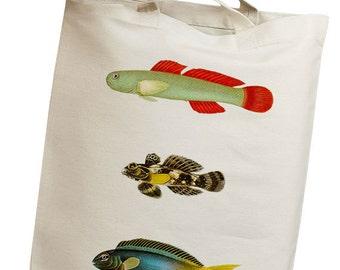 Cute Fishes Eco Friendly Canvas Tote Bag (isl044)